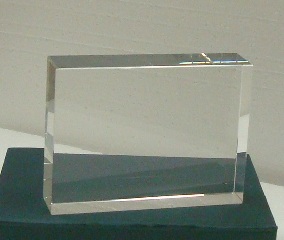 Clear Paperweight
